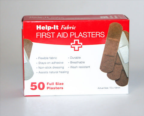 Help-It First Aid Fabric Plasters 50's