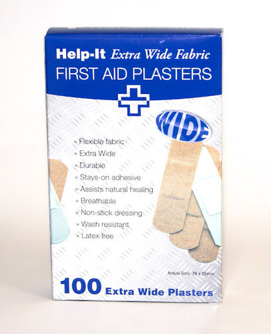 Help-It Extra Wide Fabric Plasters 100's