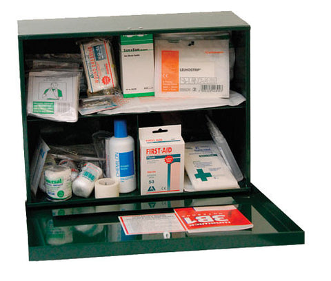 First Aid Kit - 25 Person Metal Wall Cabinet
