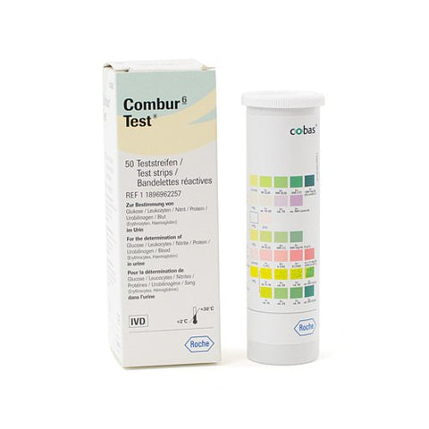 Combur 6 Test, 50 Urine Test Strips