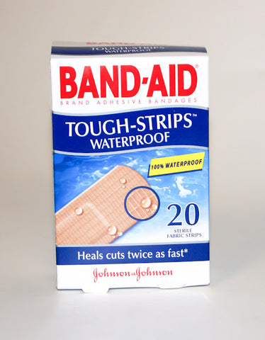 Band-Aid Tough-Strips Waterproof 20's