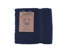 Load image into Gallery viewer, Bordered Navy blue Towel 650 GSM