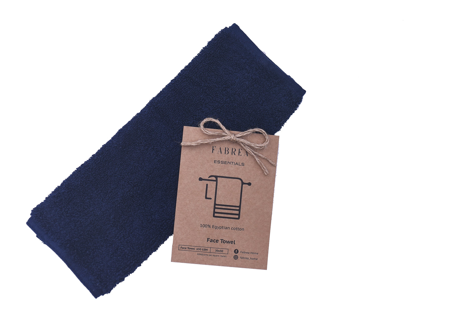 Bordered Navy blue Towel 650 GSM