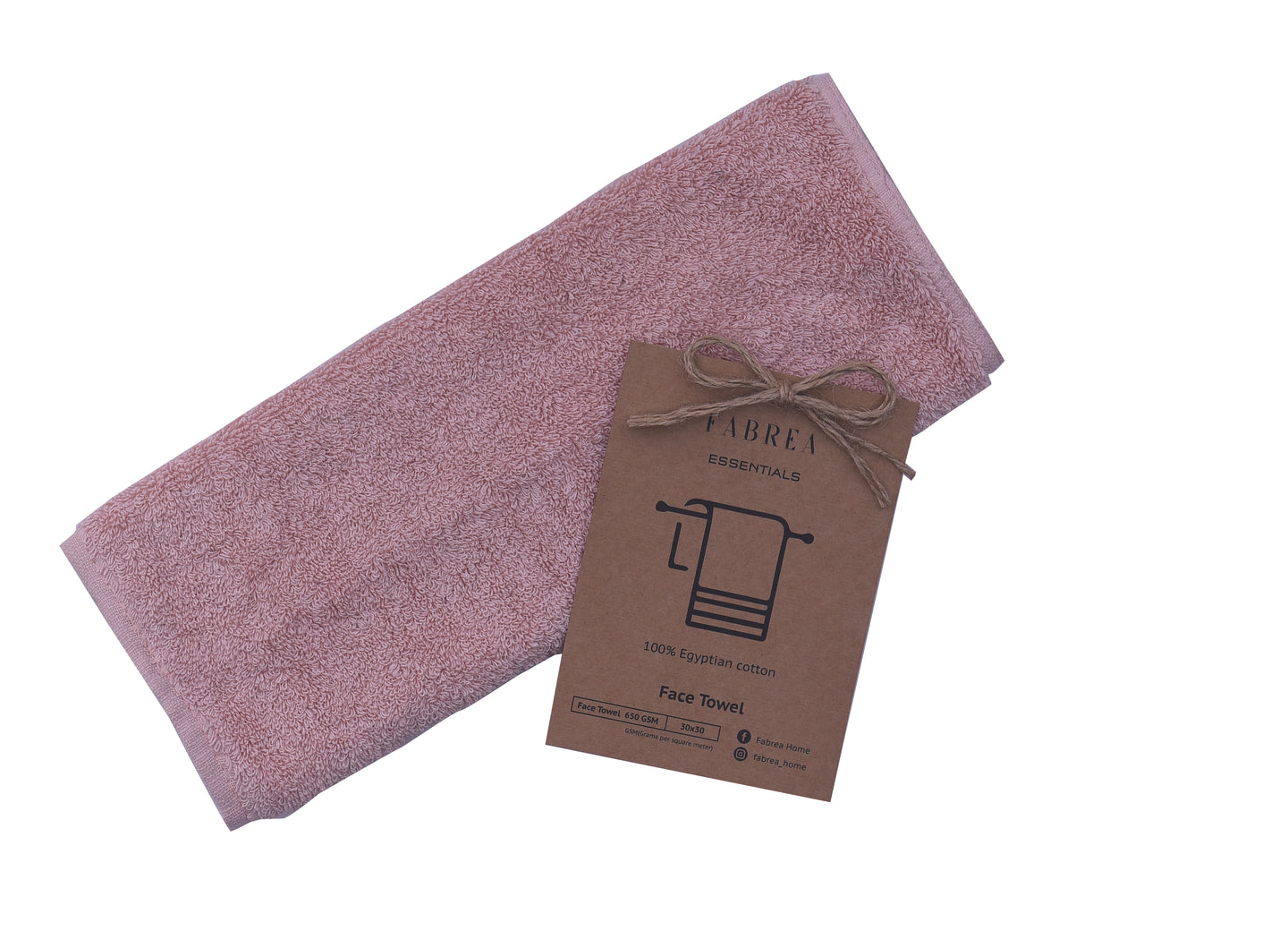 Bordered Dusty Pink Towel 650 GSM