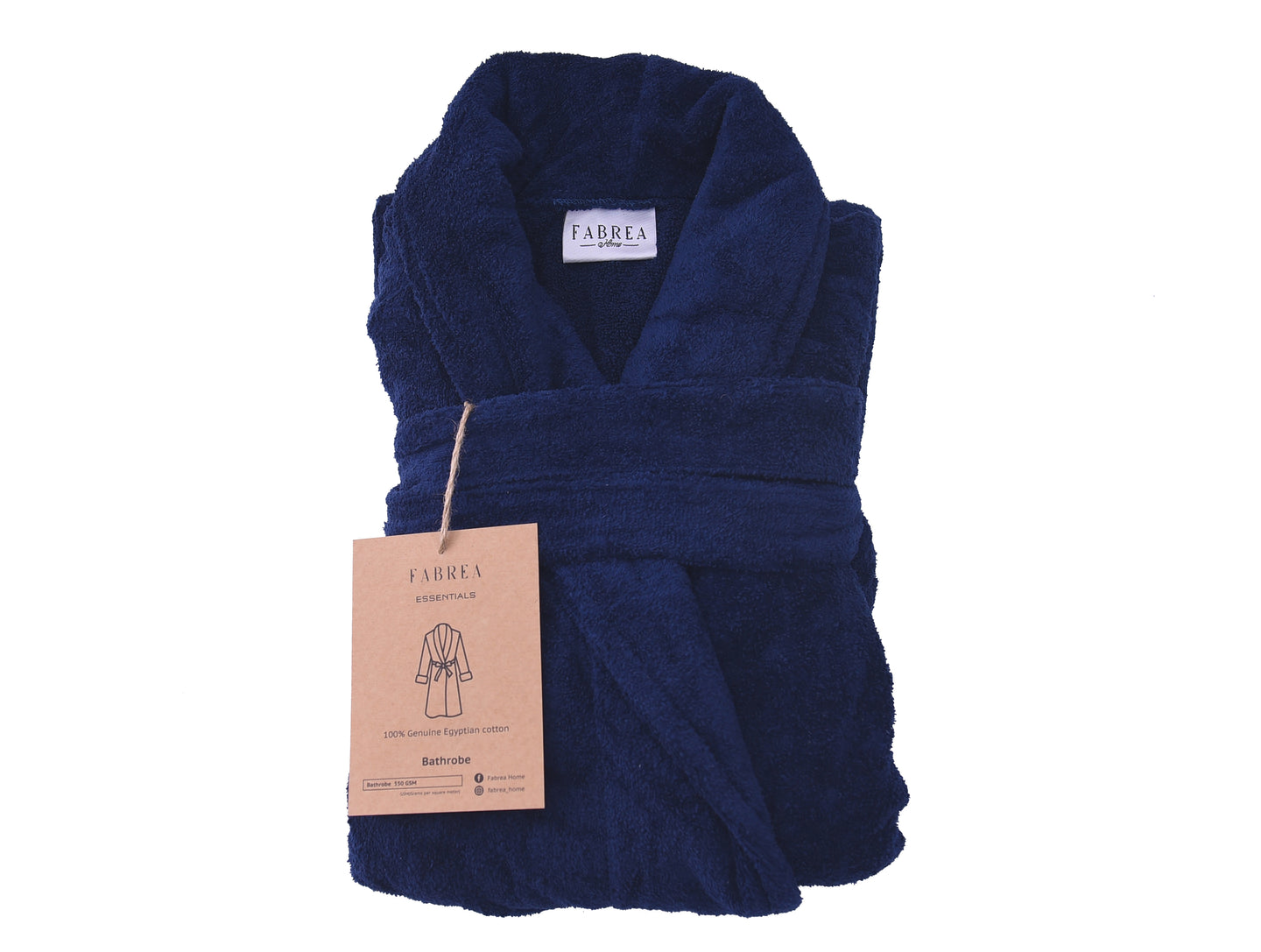 Luxury Navy Blue Bathrobe 550GSM