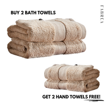 Load image into Gallery viewer, Buy 2 Bath Towels, Get 2 Hand Towels Free