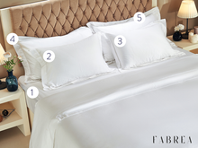 Load image into Gallery viewer, CLASSIC | 5-Piece Set: Solid Color (Fitted Sheet, 4 Pillowcases)