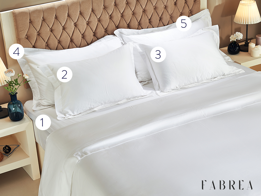 CLASSIC | 5-Piece Set: Solid Color (Fitted Sheet, 4 Pillowcases)