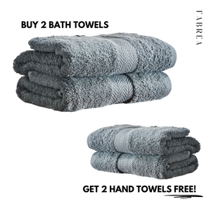 Buy 2 Bath Towels, Get 2 Hand Towels Free