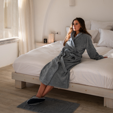Load image into Gallery viewer, Luxury Grey Bathrobe 600GSM