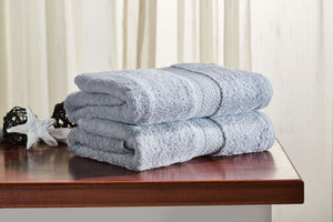 Set of 2 Grey Guest/ Hand Towels 650 GSM (available in 4 shades) 100x50cm