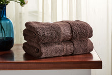 Load image into Gallery viewer, Set of 2 Brown Guest/ Hand Towels 650 GSM (available in 4 shades) 100x50cm