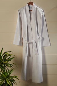White Honeycomb Bathrobe
