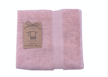 Load image into Gallery viewer, Bordered Dusty Pink Towel 650 GSM
