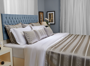 Silver Bedspread and Pillowcases Set