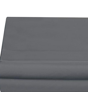 Solid Grey Flat Bed Sheet 500TC