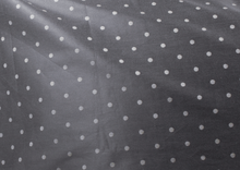 Load image into Gallery viewer, Grey Polka Dotted Flat Bed Sheet 500TC