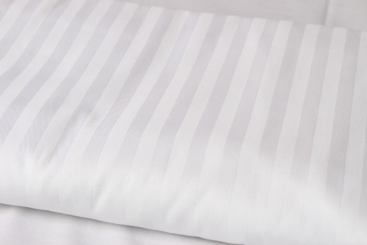White Striped Flat Bed Sheet 300TC