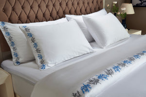White Duvet Cover with Embroidery (Customizable)