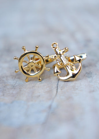 Gold Nautical Cufflinks