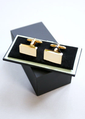 Bey-Berk Gold Cufflinks