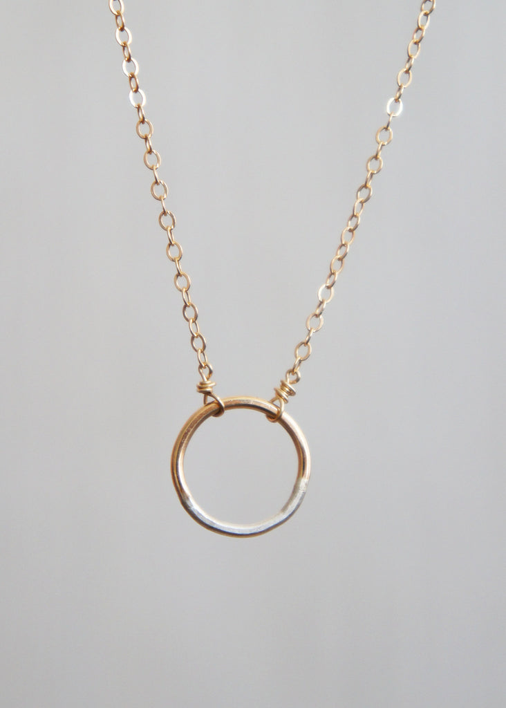 Colleen Mauer Mini Gradient Circle Necklace