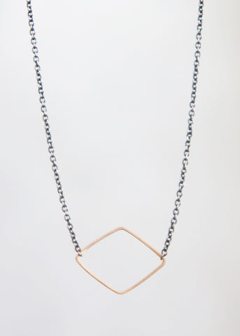 Zoe Chicco tiny mixed diamond necklace