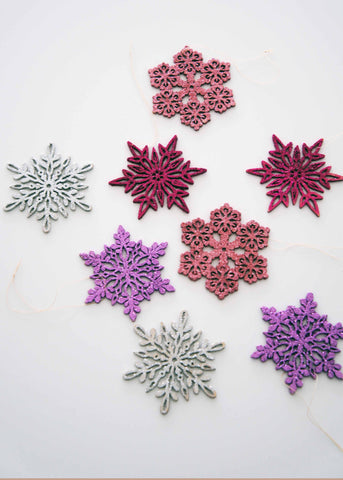 roost Santa Lucia Rosa Snowflakes