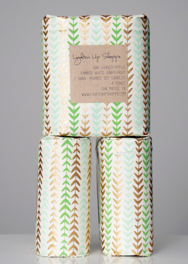 Lighten Up Shoppe Wrapped Candle Set