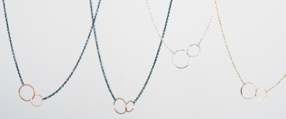 Zoe Chicco tiny mixed circles necklace