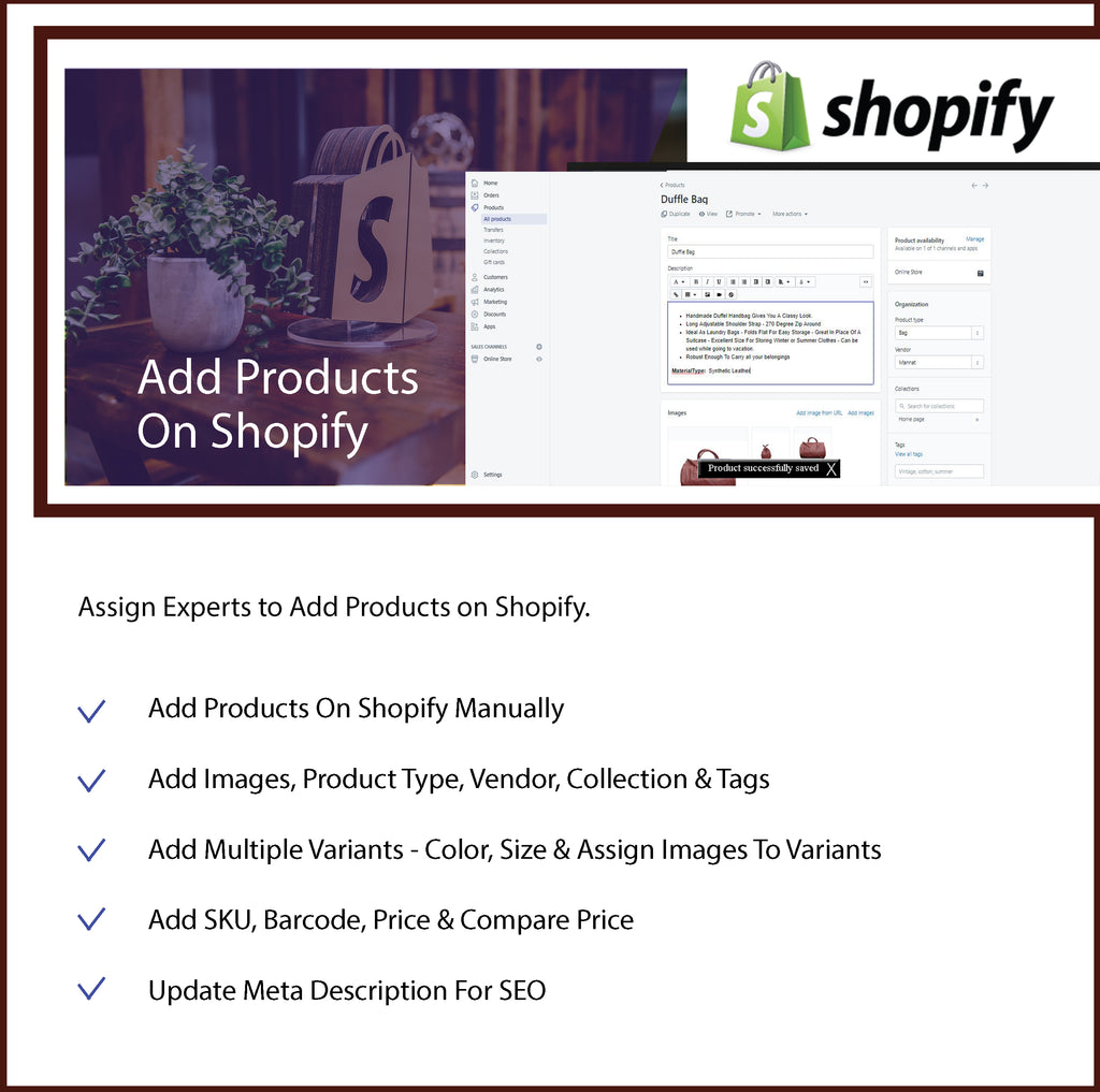 Add Products Manually On Shopify