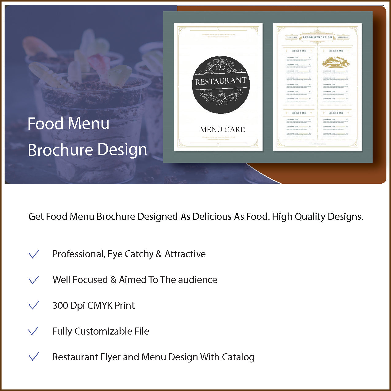 Food Menu Brochure Design
