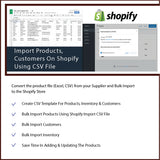 Import Products, Customers & Inventory On Shopify Using CSV File