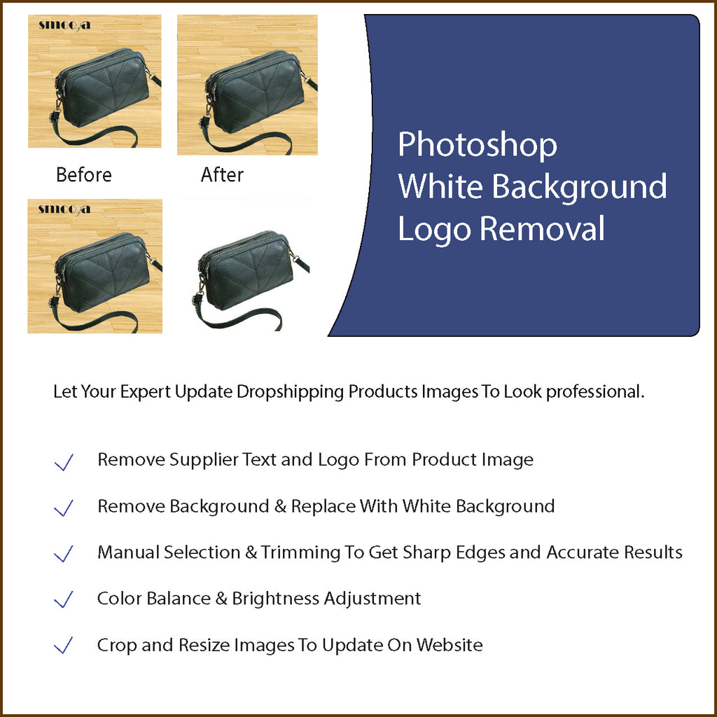 Product Image Photoshop - White Background & Supplier Logo Removal