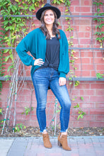 Load image into Gallery viewer, Cocoon Cardigan- Teal