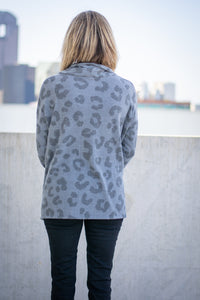 Grey Leopard hi-low Top