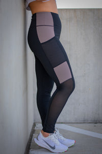 Black/Mocha Workout Leggings