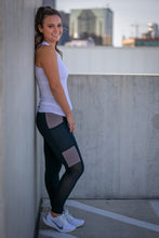 Load image into Gallery viewer, Black/Mocha Workout Leggings