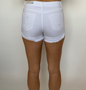 White Denim Shorts