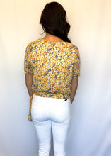 Load image into Gallery viewer, Wrapped Up With You Floral Top- SMALL