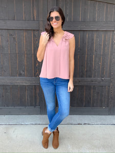 Dusty Pink Blouse-SMALL