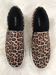 Leopard Slip-On Sneakers