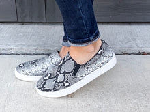 Load image into Gallery viewer, Snakeskin Slip-On Sneakers
