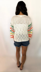 First Kiss Spring Sweater- M/L