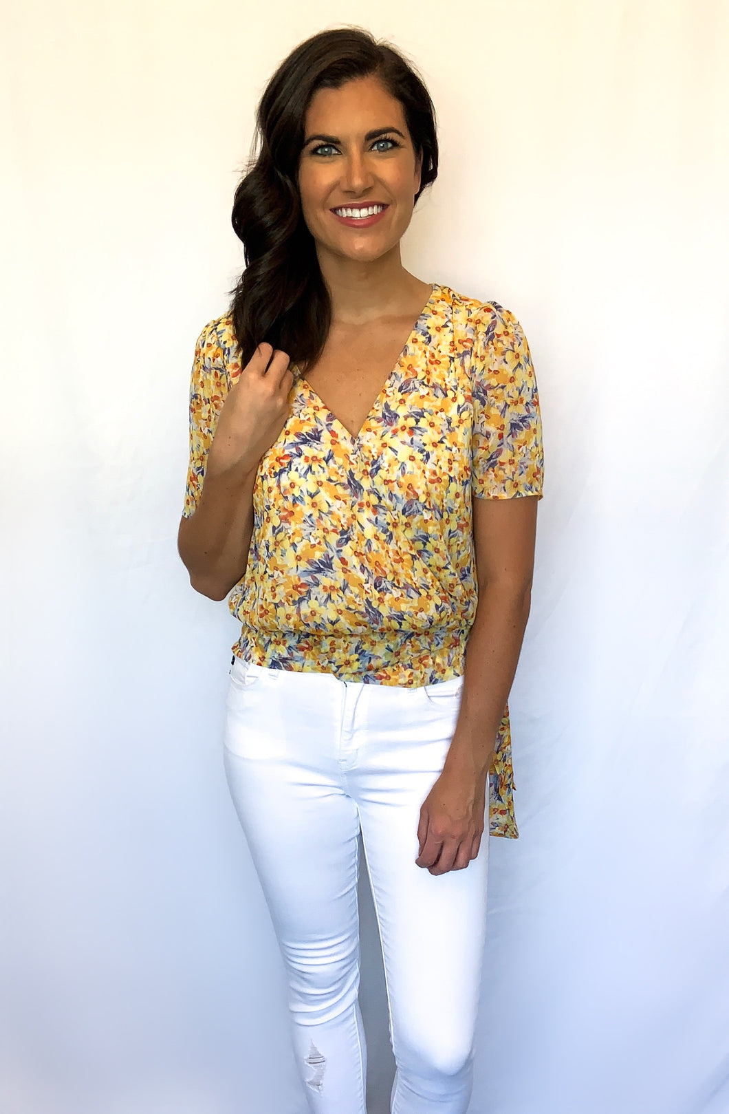 Wrapped Up With You Floral Top- SMALL