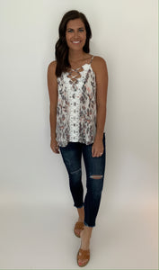 Beautiful Love Floral Top- LARGE