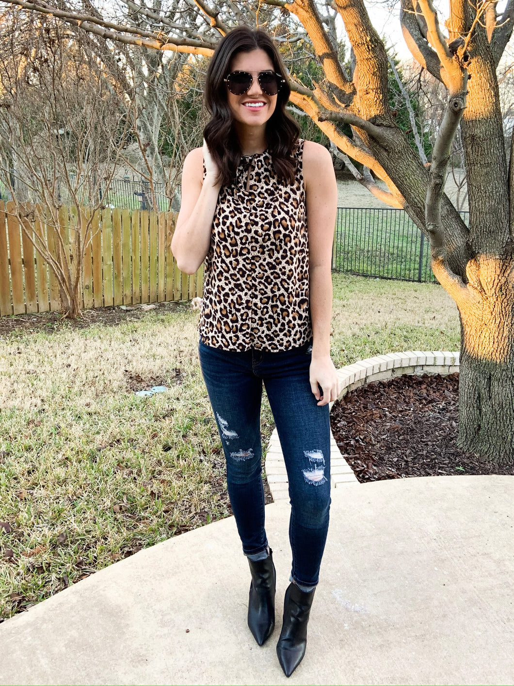Leopard High Neck Tank