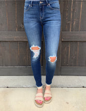 Load image into Gallery viewer, Dark Wash Distressed Denim- 3/25