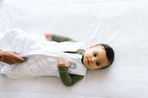 Using a Dreamland Baby weighted sack can help your baby prepare for sleep as part of a solid sleep routine.