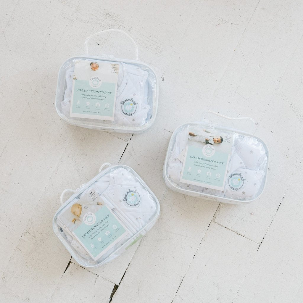 Dream Weighted Sack packaging for each size